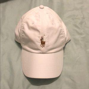 Polo Ralph Lauren logo white adjustable hat